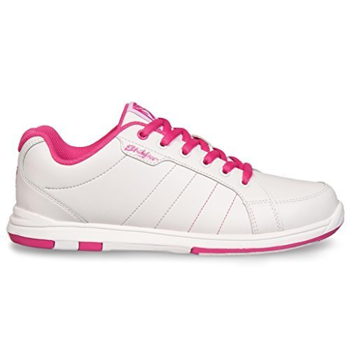 KR Strikeforce KRL042 080 Ladies Satin Bowling Shoes, 8 M US, White/Hot Pink