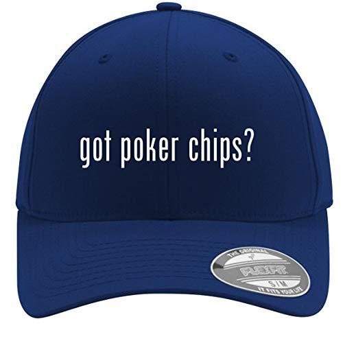 got Poker Chips? - Adult Men's Flexfit Baseball Hat Cap, Blue, Small/Medium