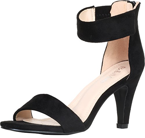 Cuff Shoes Sandal Women's 1 Black Anna Dressy Bella Elysa by Marie Ankle qBSntpOw8