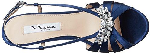 Nina Women's Viani Wedge Sandal New Navy G7Y4soxTcw