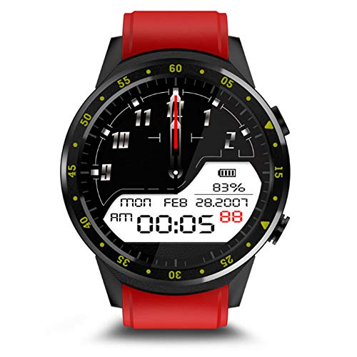 (Harpi GPS Fitness Activity Heart Rate Blood Pressure Tracker Men,F1 Multifunction Waterproof Smart Watch for Android iOS (Red))
