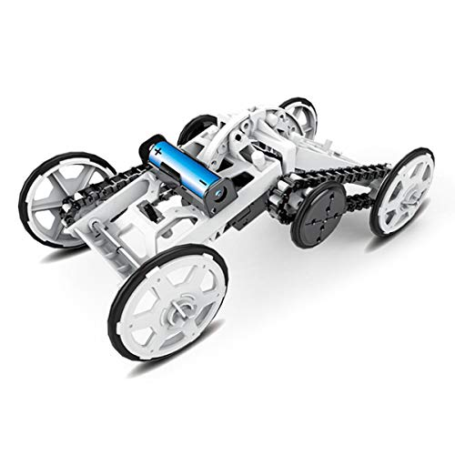 (STEM 4WD car DIY Climbing Vehicle Motor car Educational Engineering car for Kids,Amssembly Gift Toy Circuit Building Projects Science Experiment Building Toys)