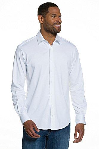 JP 1880 Homme Grandes tailles Chemise Business habillée Manches longues Cintrée blanc 3XL 706510 20-3XL