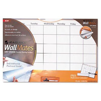 WallMates自己粘着Dry Erase Monthly計画サーフェス、36 x 24、ホワイト、各1として販売、12パック、合計12各   B00TXNONIK