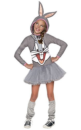 Looney Tunes Bugs Bunny Girls Hooded Costume, Child's Medium
