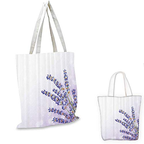 Organic Tote Spa (Lavender thin shopping bag Little Posy of Medicinal Herb Fresh Plant of Purple Flower Spa Aromatheraphy Organic canvas tote bagLavander. 13