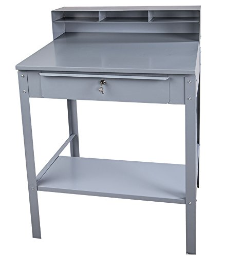 Winholt RDSWN-4 Receiving Desks, Stationary Type, Steel, 32-1/2'' x 30'' x 50'' Size, Gray by Winholt