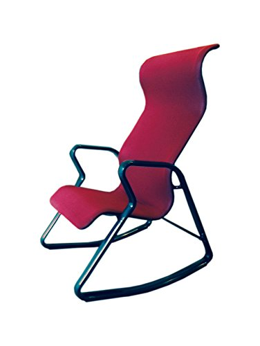 Ergonomic Modern Looking Rocking Chair with Back Support (Red Black) by Stone Spectrum