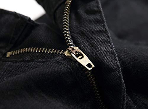 Da Afterrose Vita Vintage Stile A Lanceyy Pants Skinny Pantaloni Semplice Strappati Eleganti Denim Bassa Jeans Dritti Uomo Elasticizzati YfIwT