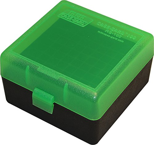MTM 100 Round Rifle Ammo Box 17, 204, 223, 5.56x45, 6x47