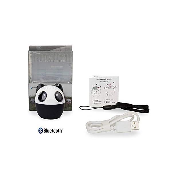 TBS2520 Mini Enceinte Bluetooth sans Fil Mini-Animal Panda - Super Mignon - 3 Watts - Fonctions Kit Main-Libre Téléphone & Selfie - Appli pour Jouer - pour iPhone Samsung Huawei etc & Tablette 6