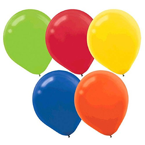 American Greetings Bright Colors Latex Balloons   Pack of 15    Party -