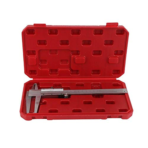 Vernier Caliper, 9-150mm Carbon Steel Inside Groove Vernier Caliper Inner Micrometer Gauge Ruler Measuring Tool Easy to Measure and Read - Micrometer Read Metric