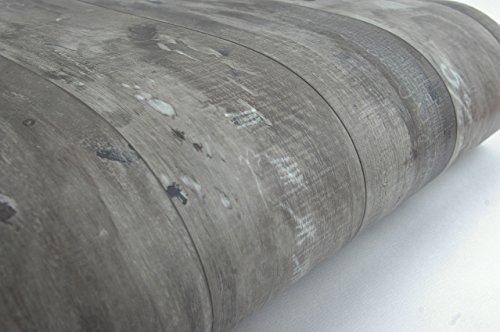 UPC 799662398142, Wood Panel Contact Paper Film Vinyl Self Adhesive Peel-stick Removable (Grey Brown VL7710)