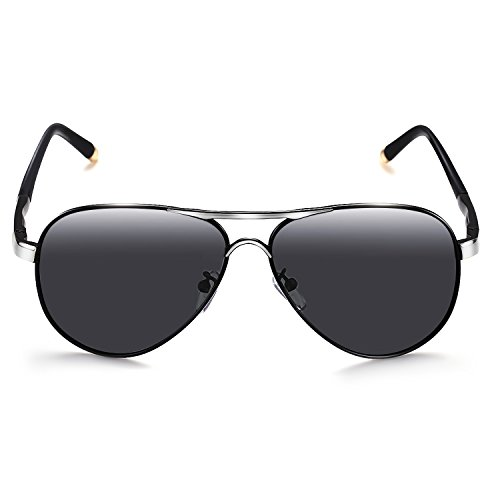 Rocknight Polarized Aviator Sunglasses for Men Women Metal Flat Top Sunglasses Ultralight Mirror Lens UV400 Outdoor