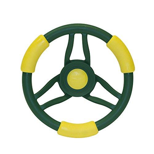 Backyard Discovery 1980com High Performance Steering Wheel Toy, Green/Yellow (Steering Swing Wheel Set)