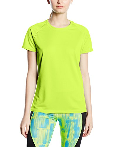Fruit Of The Loom SS075M, Camiseta Para Mujer Amarillo (Bright Yellow)
