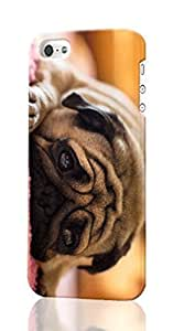 Pug Pattern Image - Protective 3d Rough Case Cover - Hard Plastic 3D Case - For iPhone 6 plus 5.5