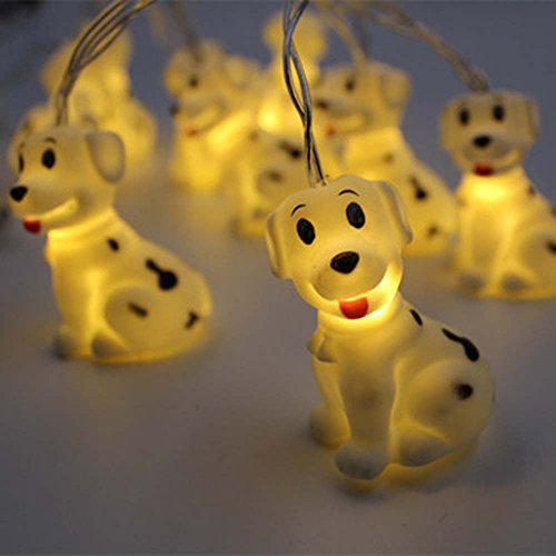 Circle Circle 1.5 m / 4.9 ft 10 Lights Battery Powered Cute Animal Spotty Dog Shape LED String Lights for Indoor/Outdoor Halloween Christmas Thanksgiving Home Party Children Kids Bedroom Decoration by Circle Circle