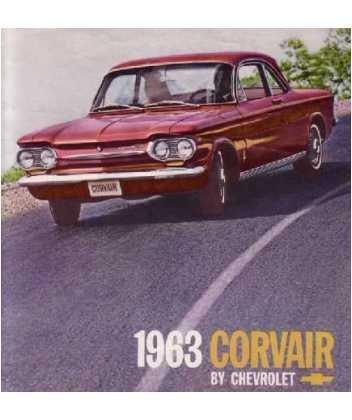 1963 Chevrolet Corvair Sales Brochure Literature Book Piece Advertisement ()