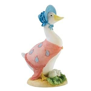 Beatrix Potter - Figura decorativa, diseño de la oca Carlota con huevos