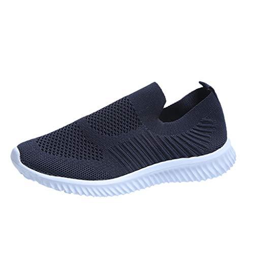 Deloito Modische Sneaker Schlüpfen Laufschuhe Mesh Turnschuhe für Damen Freizeit Bequem Sportschuhe Atmungsaktive Laufen Schuhe