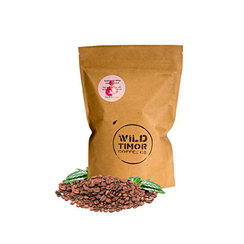 Assign WINING Australian Coffee - Wild Timor Coffee. Wild Organic Whole Bean Coffee. Direct Trade from East Timor, 1 kg (2.2lb) Re-sealable Bag.