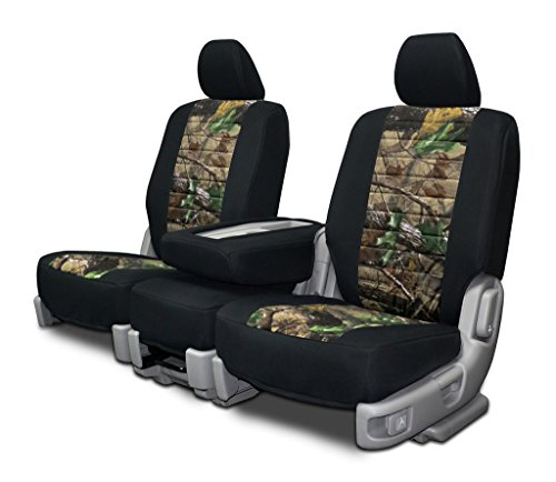 Realtree Hardwood Insert (Custom Fit Seat Cover For Chevy/GMC 40-60 Seat Neoprene & Realtree Hardwoods Green)