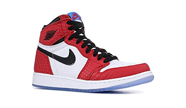 Amazon.com | Air Jordan 1 Ret Hi Og (Gs) Spiderman - 575441-602 - Size 7 | Basketball