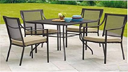 Mainstays Bellingham Outdoor 5 Piece Patio Furniture Dining Set, Seats 4