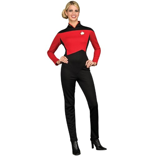 Rubie's Women's Star Trek The Next Generation Deluxe Commander Uniform Jumpsuit, Red, Medium -