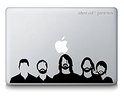 Foo fighters band decal sticker for macbook air pro all models