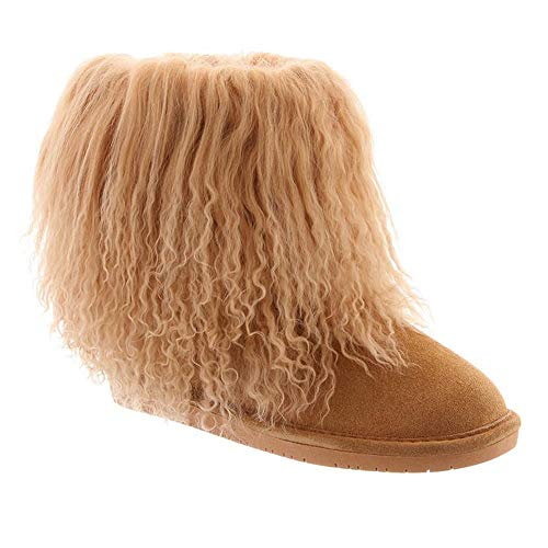 BEARPAW Women's Boo Boot Wheat Suede Size 9 B(M) US