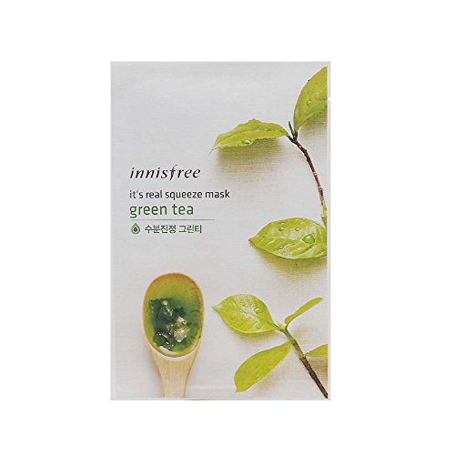 INNISFREE It's Real Squeeze Mask - Green Tea 20ml*15pcs