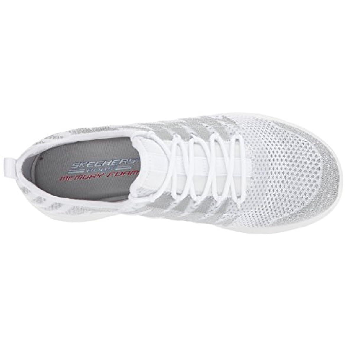 Skechers Womens Shoe Bobs Swift-zap Zing White silver 5