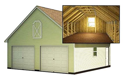 Two Car Garage Plans With Loft DIY Backyard Shed Building 24