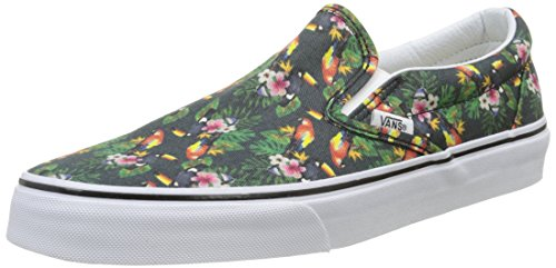 Vans Unisexe Adulte Slip-on Classique Baskets Multicolores (chambray / Perroquet Blanc V