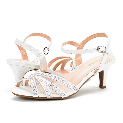 Nina white 166 Pump Low Women's DREAM Heel Sandals PAIRS aTqBxw7z