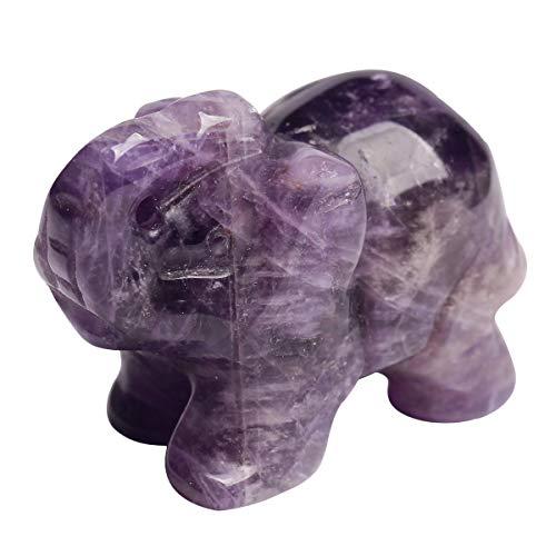 Amethyst Elephant - faovramulet Amethyst 1.5