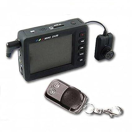 Cámara Espía Botón DVR con monitor remoto y SD Card 8 GB