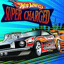 Amscan Hot Wheels Speed City 5 inches Beverage Napkins, 16-Count]()