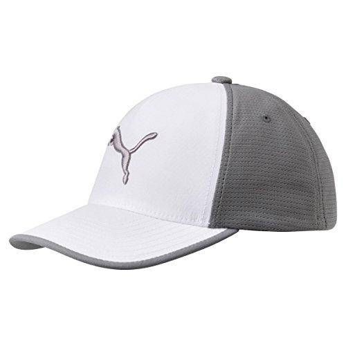 PUMA Golf 2017 Men's Front 9 Flexfit Hat, Bright White-Quiet Shade, Large/X-Large ()