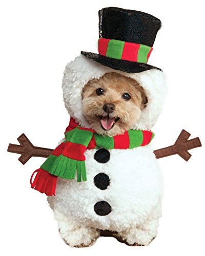 Rubie's Walking Snowman Pet Costume, Medium