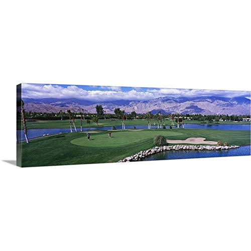 GREATBIGCANVAS Gallery-Wrapped Canvas Entitled California, Palm Springs, Golf Course by ()