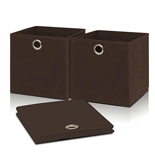 Furinno LACi Fabric Collapsible Soft Storage Organizer, Brown