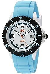 40Nine Unisex 40NINE03/BLUE40 Medium Stainless Steel Watch with Blue Band