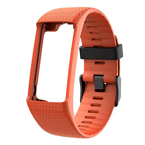 - HHoo Fashion Classic Sport Replacement Strap For Polar A370 A360, Jelly Gel Silicon smart watch wristband Accessories - Quick Release Bracelet - Choose Color (Orange)