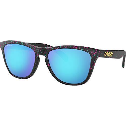 Oakley Men's Frogskins Asian Fit Sunglasses,OS,Splatte Black/Prizm Sapphire