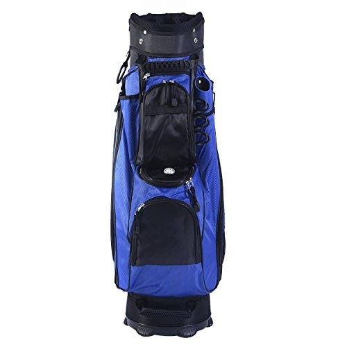 Tangkula 2016 Golf Carry Bag 14 Way Divider Lightweight w/Carry Belt Blk&Blue by TANGKULA (Image #2)