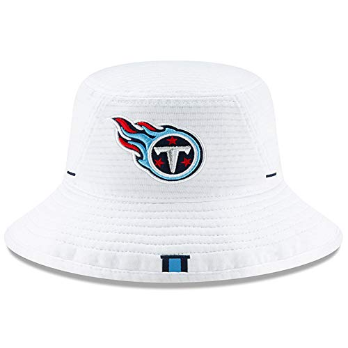 (New Era Tennessee Titans NFL 2019 Training Camp Official Bucket One Size Fits Most Cap Hat White - Tennessee Titans,White)